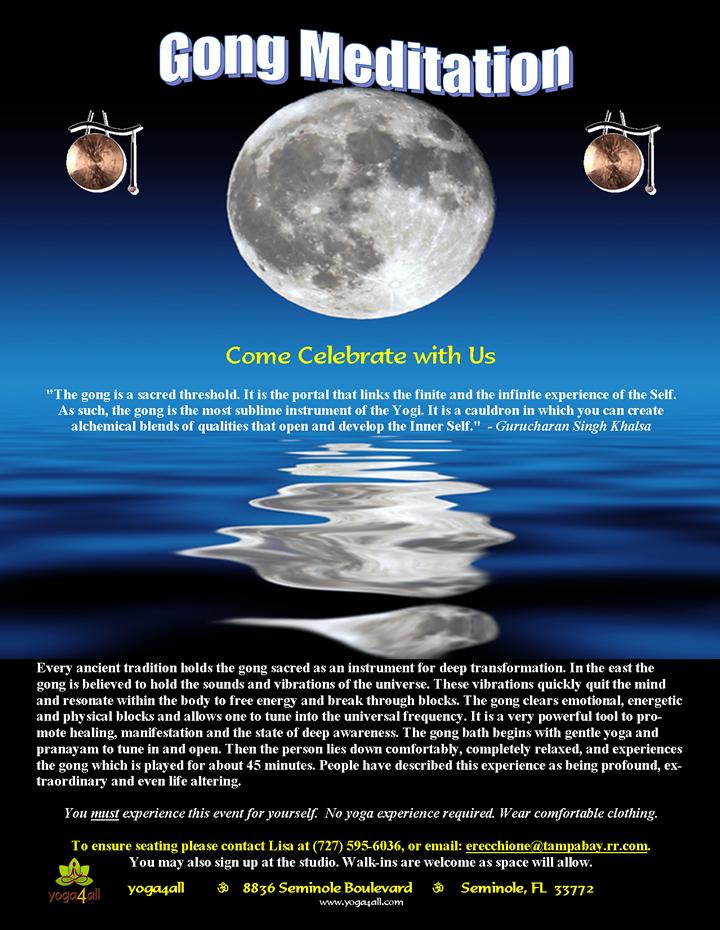 Full Moon/New Moon Gong Meditation | Yoga4all